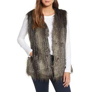 Via Spiga Women Vest Faux Fur Black Multi